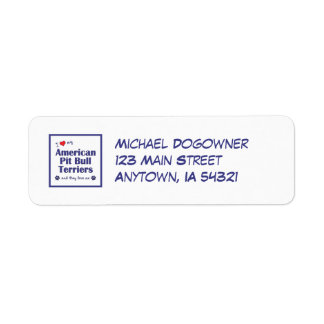 I Love My American Pit Bull Terriers (Multi Dogs) Return Address Label