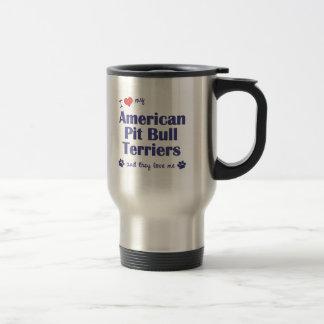 I Love My American Pit Bull Terriers (Multi Dogs) Travel Mug