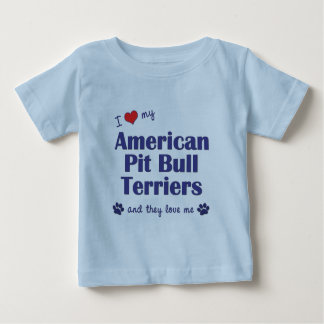 I Love My American Pit Bull Terriers (Multi Dogs) Tshirt