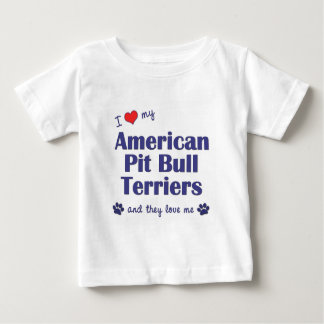 I Love My American Pit Bull Terriers (Multi Dogs) T Shirts