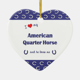 I Love My American Quarter Horse (Male Horse) Christmas Ornament