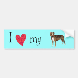 I Love my American Staffordshire Terrier Bumper Sticker
