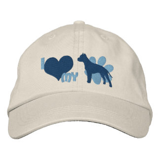 I Love my American Staffordshire Terrier Embroidered Baseball Caps
