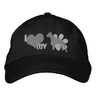 I Love my American Staffordshire Terrier Embroidered Baseball Cap