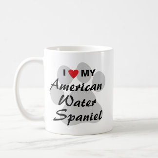 I Love My American Water Spaniel Basic White Mug
