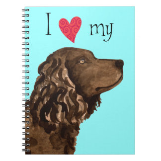 I Love my American Water Spaniel Note Book
