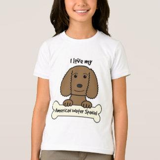 I Love My American Water Spaniel T Shirt