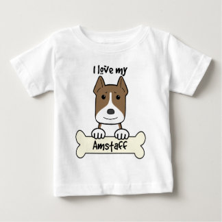 I Love My Amstaff Baby T-Shirt