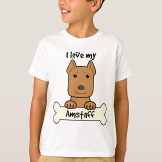I Love My Amstaff T-Shirt