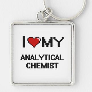 I love my Analytical Chemist Silver-Colored Square Key Ring