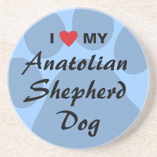 I Love My Anatolian Shepherd Dog Beverage Coasters