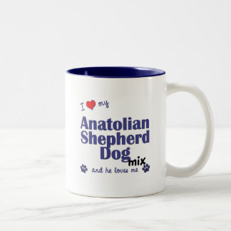 I Love My Anatolian Shepherd Dog Mix (Male Dog) Two-Tone Coffee Mug