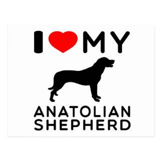 I Love My Anatolian Shepherd Dog Postcard
