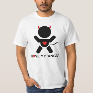 I Love My Angel Couple Men's T-Shirt