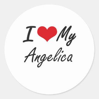 I love my Angelica Round Sticker