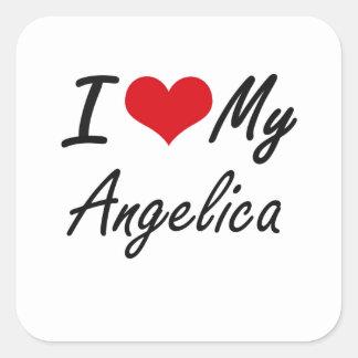 I love my Angelica Square Sticker
