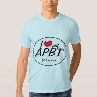 I Love My APBT (It's a Dog) Tee Shirt