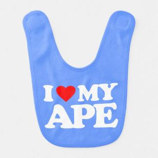 I LOVE MY APE BIBS