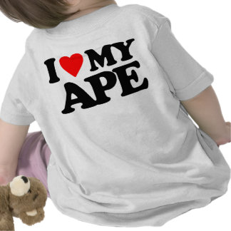 I LOVE MY APE TEE SHIRTS