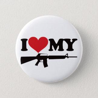 I Love My AR15 6 Cm Round Badge