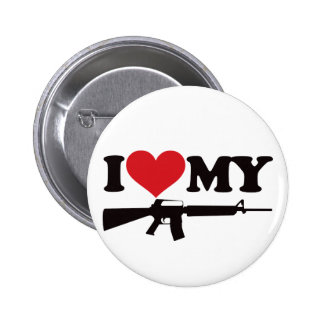 I Love My AR15 6 Cm Round Badge