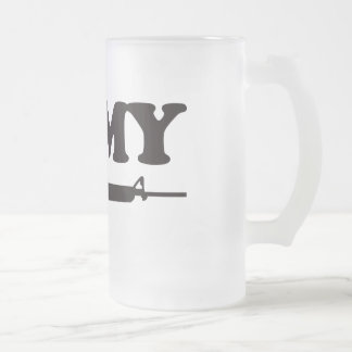 I Love My AR15 16 Oz Frosted Glass Beer Mug