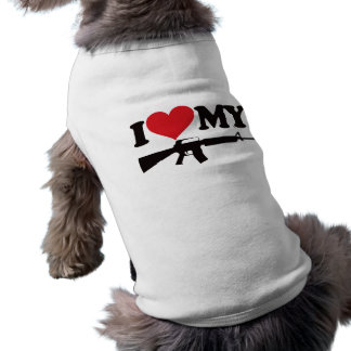I Love My AR15 Sleeveless Dog Shirt
