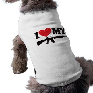 I Love My AR15 Sleeveless Dog Shirt