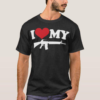 I Love My AR15 T-Shirt