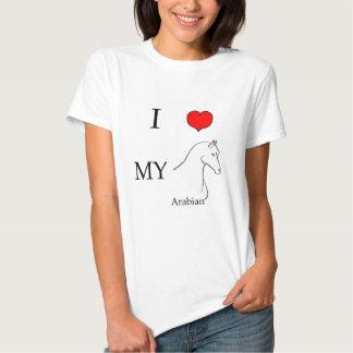 I love my arabian horse tee shirts