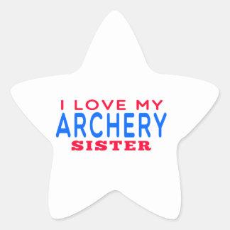 I Love My Archery Sister Sticker