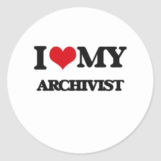 I love my Archivist Classic Round Sticker