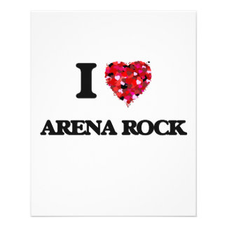 I Love My ARENA ROCK 11.5 Cm X 14 Cm Flyer