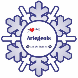 I Love My Ariegeois (Female Dog) Photo Sculpture Decoration