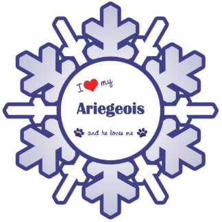 I Love My Ariegeois (Male Dog) Photo Sculpture Decoration