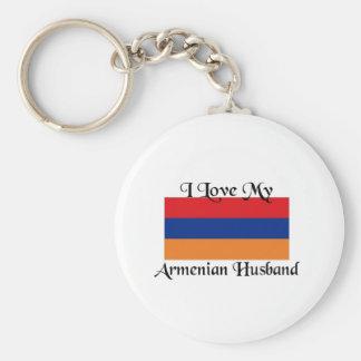 I love my Armenian Husband Basic Round Button Key Ring