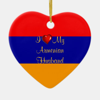 I Love My Armenian Husband Christmas Ornament