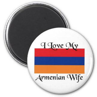 I love My Armenian wife 6 Cm Round Magnet