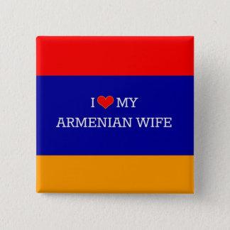I Love My Armenian Wife, Armenian Flag 15 Cm Square Badge