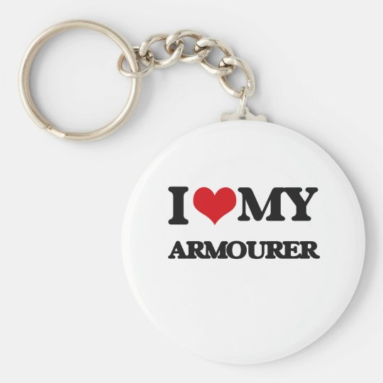 I love my Armourer Basic Round Button Key Ring