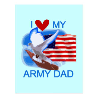 I Love My Army Dad Tshirts and Gifts Postcard