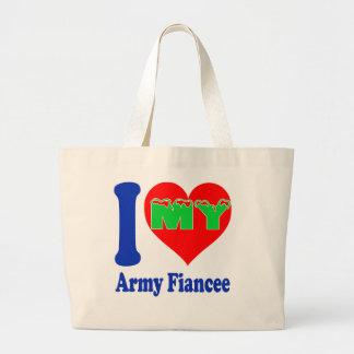 I love my Army Fiancee. Canvas Bag