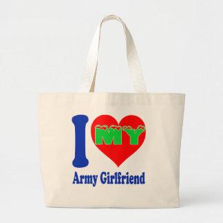 I love my Army Girlfriend. Tote Bags