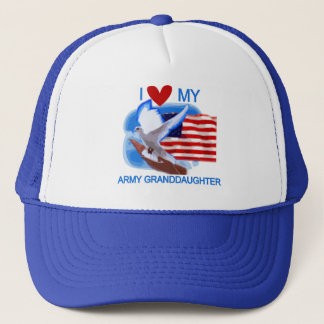 I Love My Army Granddaughter Tshirts and Gifts Trucker Hat
