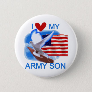 I Love My Army Son Tshirts and Gifts 6 Cm Round Badge