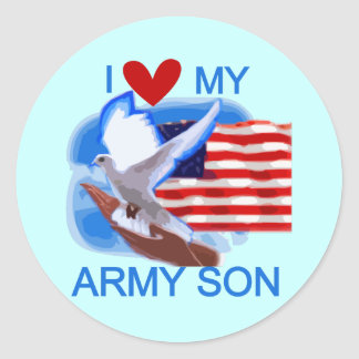I Love My Army Son Tshirts and Gifts Stickers