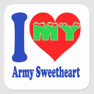 I love my Army Sweetheart. Square Sticker