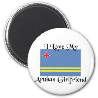 I love my Aruban Girlfriend 6 Cm Round Magnet