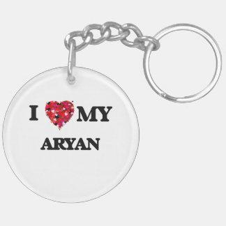 I love my Aryan Double-Sided Round Acrylic Key Ring