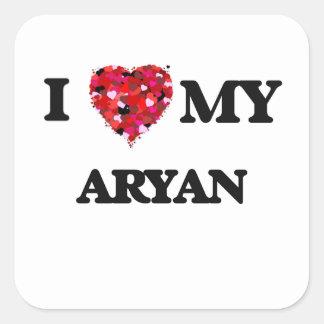 I love my Aryan Square Sticker